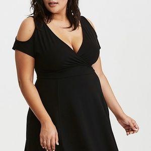 Torrid Black Jersey Dress size 0 or 14